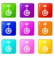 unicycle set 9 vector image vector image