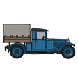 Vintage blue truck vector image vector image