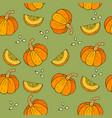 webseamless halloween background with pumpkins vector image vector image
