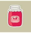delicious jam made from fresh natural raspberry vector image