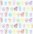 Hand Drawn Houses Seamless Pattern Childish vector image