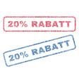 20 percent rabatt textile stamps vector image vector image