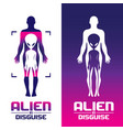 alien in disguise concept volume 1 set vector image