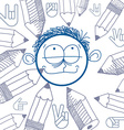 art colorful drawing of happy person education and vector image vector image