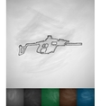 automatic rifle icon vector image vector image