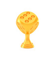 award golden realistic game dice trophy cup vector image