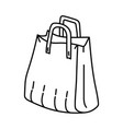 bag icon doodle hand drawn or outline icon style vector image