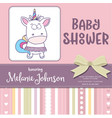 beautiful bashower card template with lovely vector image vector image