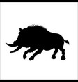 black silhouette of moster wild boar vector image