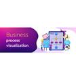 business process management concept banner header vector image vector image