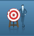 businessman success with his target goal vector image