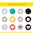Cardio training icons vector image vector image
