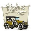 cartoon retro vintage luxury convertible car vector image vector image