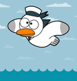 Cartoon Seagull vector image vector image