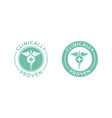 clinically proven medical caduceus icon vector image
