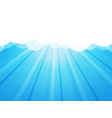 clouds with rays blue background vector image