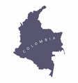 colombia silhouette map vector image vector image