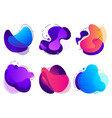 colorful abstract shapes saturated fluid vector image vector image