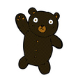 comic cartoon cute black teddy bear vector image