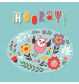 cute card with funny owl vector image