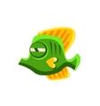 Determined Green Fantastic Aquarium Tropical vector image vector image