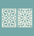 die and laser cut ornate panels with snowflakes vector image vector image