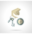 Duplication of keys flat color icon vector image