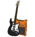 Electric guitar and the combo vector image vector image