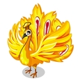 Fabulous Golden bird on a white background vector image vector image