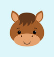 farm animals of cute horse flat style vector image vector image