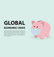 global economic crisis as a result of vector image