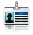 Glossy nametag vector image vector image