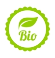 Green Bio icon or symbol vector image vector image