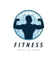 gym logo design template fitness or sport vector image