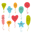 Happy cute colored balloons Birthday balloons vector image vector image