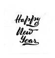 happy new year brush hand vector image