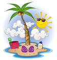 island paradise cartoon vector image