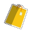 Isolated shopping bag vector image vector image