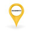 Location Sacramento vector image