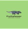 logo beaver cute cartoon vector image