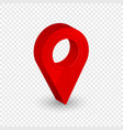 map location pointer 3d arrow navigation icon vector image vector image