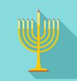 menorah icon flat style vector image vector image