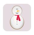 merry christmas candy cane snowman carrot nose vector image vector image