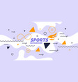 modern colored poster for sports vector image
