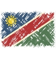 Namibian grunge flag vector image vector image