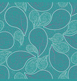 paisleys seamless pattern turquoise repeating vector image vector image