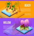 park landscape design isometric posters vector image vector image