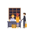 People At The Reception Desk Checking In Hotel vector image vector image