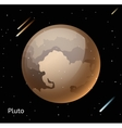 Pluto planet 3d vector image vector image