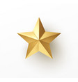 realistic 3d golden star isolated on white vector image vector image